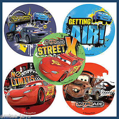 Cars Stickers x 5 - Birthday Party Favours Lightning/Mater Lolly Bag Ideas Loot (Car Birthday Ideas)
