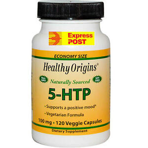 Healthy Origins 5-HTP 100 mg, 120 Veggie Caps Mood & Sleep  BEST BRAND  VALUE