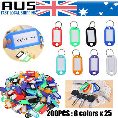 200 Pcs Keychain Key Ring ID Sports Tags Name Card Label luggage NEW