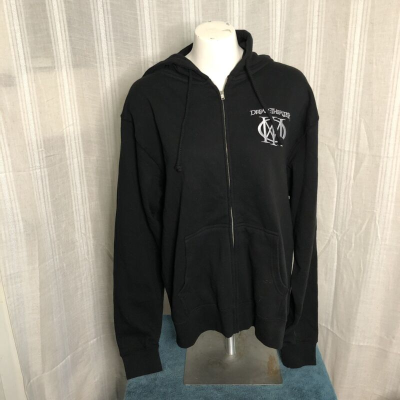 Embroidered Dream Theater Zip Up Hoodie XL Shirt Lp