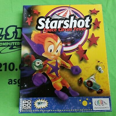 Starshot: Space Circus Fever (PC, 1999) - RETAIL BOX - PC GAME - Win 95/98 Ver