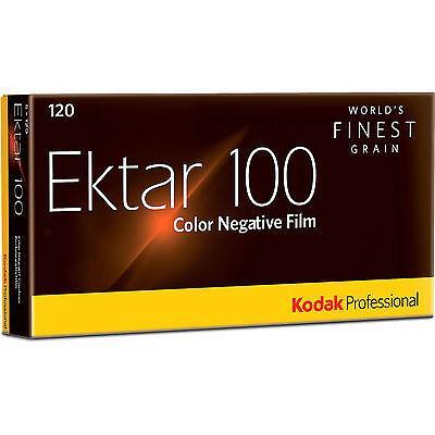 5 Rolls Kodak Ektar 100 120 Pro Color Negative Film Exp. 8/2018