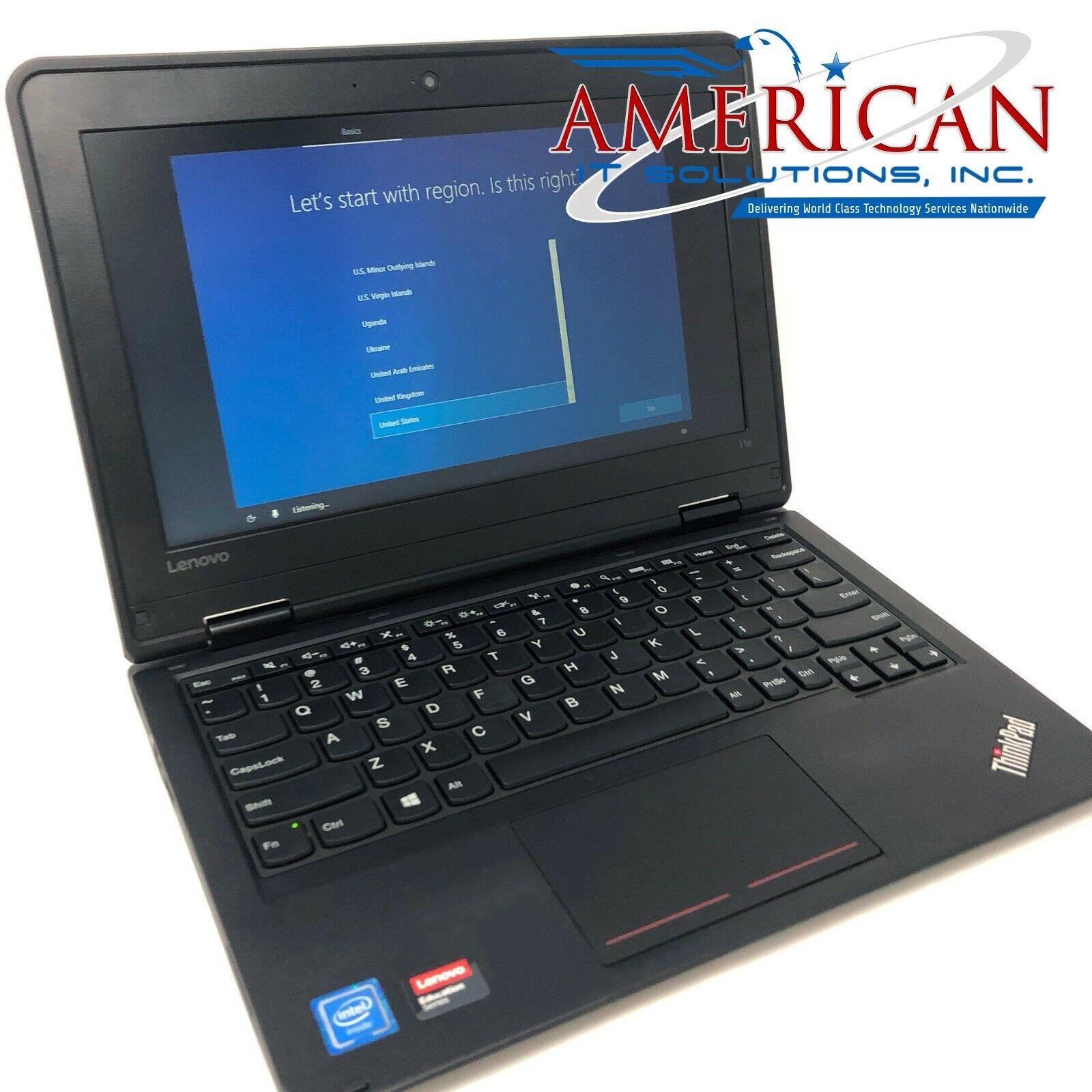 """Laptop Windows - Lenovo 11e Laptop - 11.6"""" - CPU 1.6GHZ - 8GB RAM - 256GB SSD M.2- Windows 10 Pro"""