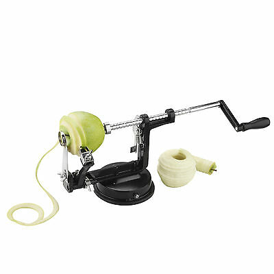 VonShef 3 in 1 Black Aluminium Apple Peeler Corer Slicer Cutter Machine