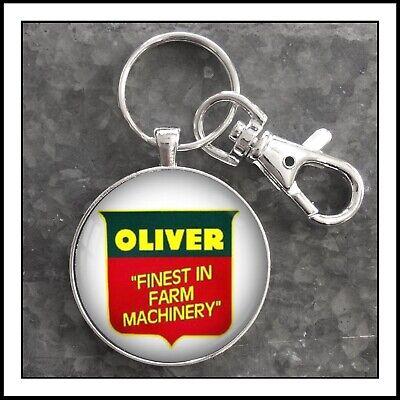 Vintage Oliver Farm Machinery Sign Photo Keychain Tractor Key (Vintage Oliver Sign)