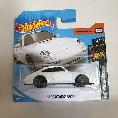 2019 Hot Wheels '96 Porsche Carrera Lot of 2 M Case Blue// White Nightburnerz B43