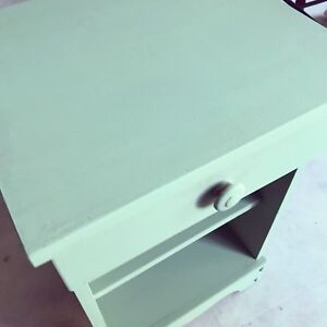 Lime green end table