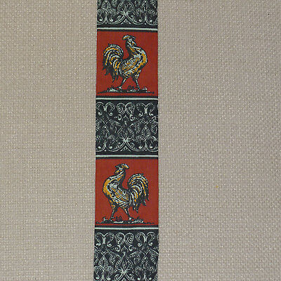 (Vintage Skinny Square End Rooster Tie - Necktie: Bold Roosters in Youth Length)