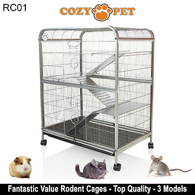 Details about Cozy Pet Rodent Cage for Rat, Ferret, Chinchilla, Degu or  other Small Pets RC01