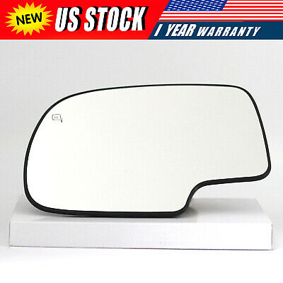 For 99-07 Chevy Silverado GMC Sierra Power Heated Driver Left Side Mirror Glass ()