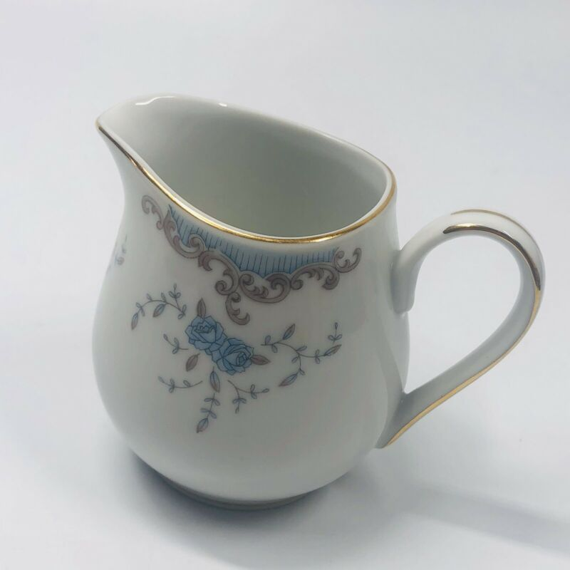 Imperial China SEVILLE W Dalton  5303 Blue Roses Creamer - 4 inches tall (SHLF)