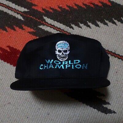 Deadstock 90s Stone Cold Steve Austin World Champion Snapback Hat Vintage WWF