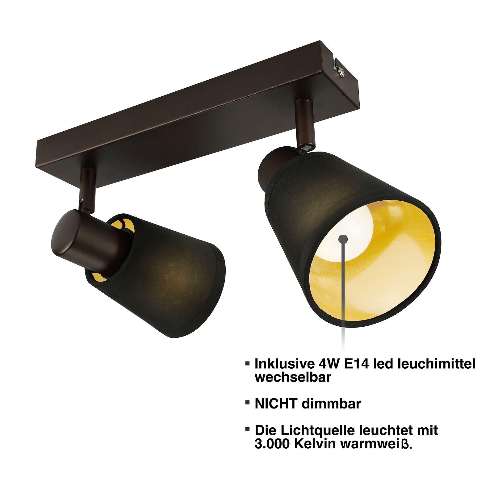 IMPTS LED Deckenleuchte Spot Lampe Strahler warmweiß Deckenlampe 1-4 Fammig