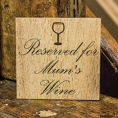 (Personalised Wooden Coaster for any occasion laser engraved ideal gift )