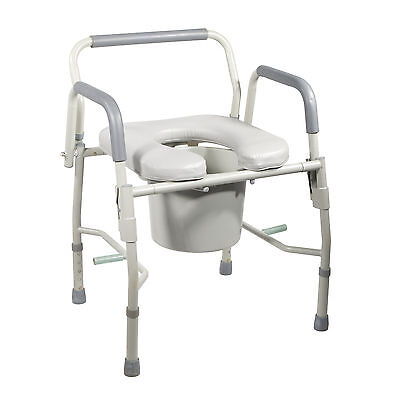 Drive Medical 11125pskd-1 Steel Drop Arm Bedside Commode ...