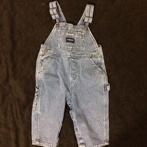 12 month denim overalls