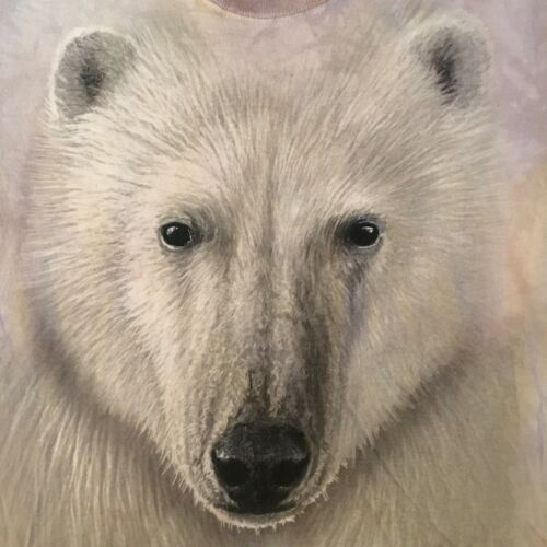 big face POLAR BEAR--DETROIT ZOO t shirt by THE MOUNTAIN - NEW - (S)