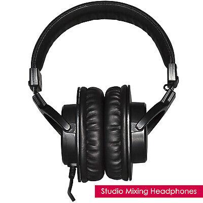 TASCAM Pro Audio Recording DJ PA Mixing Home Studio Headphones - Black - Single