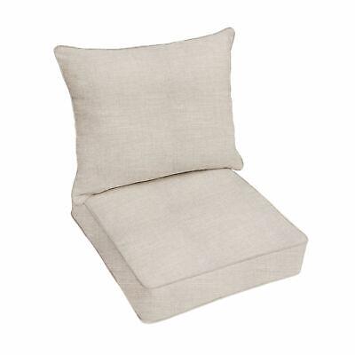 Sunbrella Cast Silver Indoor Outdoor Deep Seat Pillow and Chair Cushion Set  Sunbrella Outdoor Chair Cushions