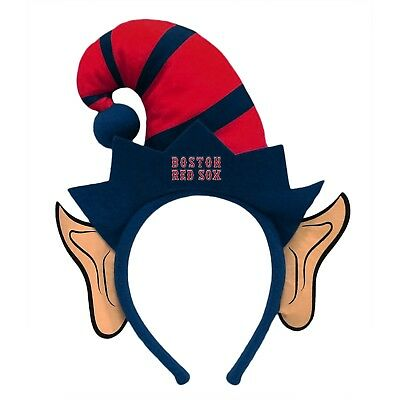 Boston Red Sox Elf Ears Headband Holiday Hat NEW! Christmas Santa Helper Boston Red Sox Headband