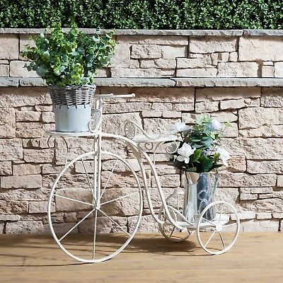 Wrought Iron Decorative Bicycle Flower and Plant Stand
