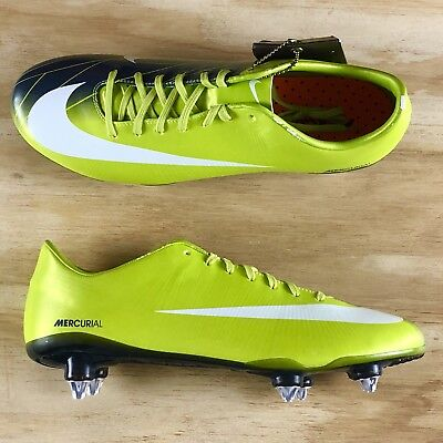 3bc345a8b Nike Mercurial Vapor Superfly II SG-Pro Green Soccer Cleats 396126-311 Size  11.5