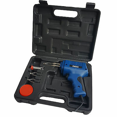 175W ELECTRIC ELECTRICAL SOLDER SOLDERING IRON GUN KIT 230V - 2 SPARE TIPS NEW