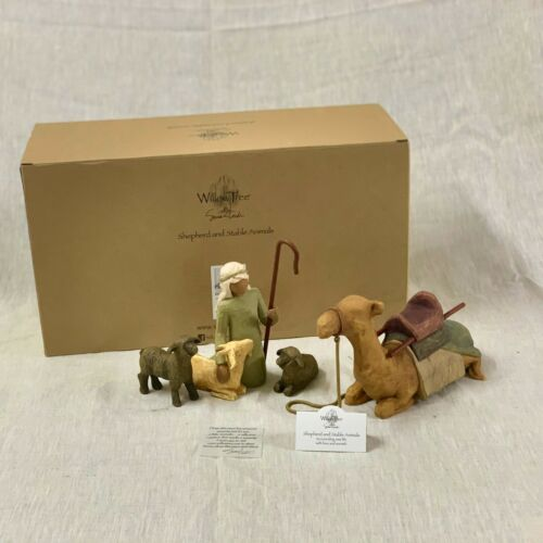 #26105, Willow Tree nativity figures Shepherd and Stable Animals