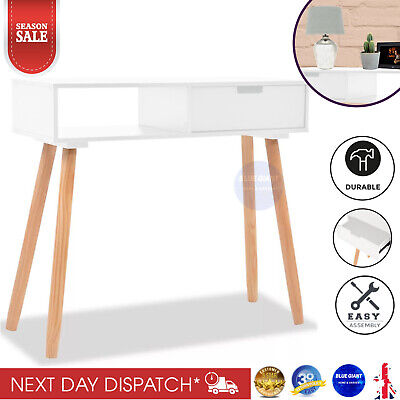 Retro Computer Desk Vintage Scandinavian Furniture Small Writing Table PC