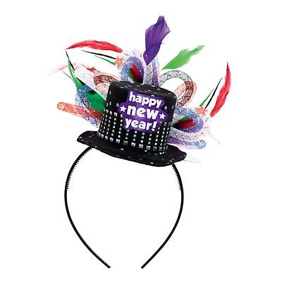 Happy New Year Eve 2018 Deluxe Headband Top Hat Party Headwear Photo Booth Prop