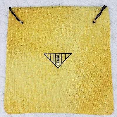 RARE Vintage Authentic Fendi Handbag Storage Dust Bag Yellow Made in Italy 13x13