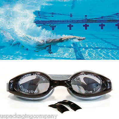 Black / Gray  Adult Pro Anti Fog UV Protection Swimming Goggles Glasses