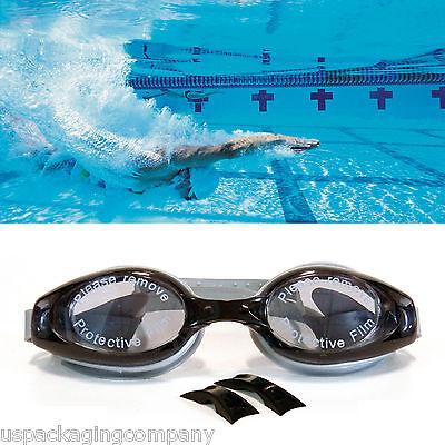 Black / Gray Professional Grade Anti Fog UV Proection Swimming Goggles