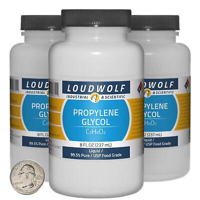 Propylene Glycol 24 Fl Oz 3 Bottles 99.5 Pure Usp Food Grade Liquid