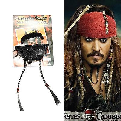 Pirates of the Caribbean Jack Sparrow Pirate Schnurrbart Spitzbärte Kostüm Cos gebraucht kaufen  Versand nach Germany