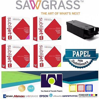 Sawgrass Super Combo Ink Set Cmyk Waste Tank 100 Sh Sublipaper