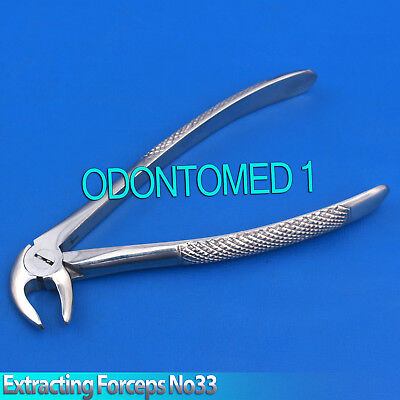 Surgical Dental Tooth Extracting Forceps Lower Jaw No 33 Extraction Tools