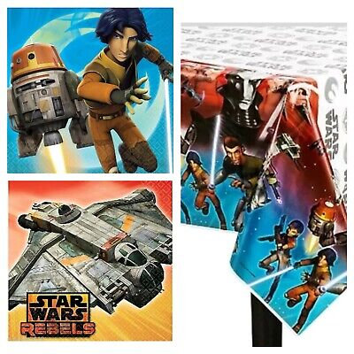 Star Wars Rebels Birthday Party Napkins Plates Tablecover Build Your Own Set - Star Wars Party Plates