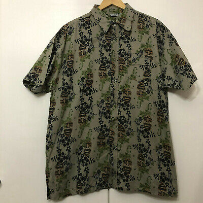 Vintage Hawaiian Style Pattern Shirt Classic Retro Multicolour XXL