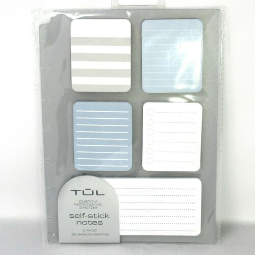 Tul Self-Stick Notes 5 Pads 25 Sheets per Pad