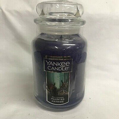 Yankee Candle Halloween HAUNTED HAYRIDE Large 22 oz Jar Candle