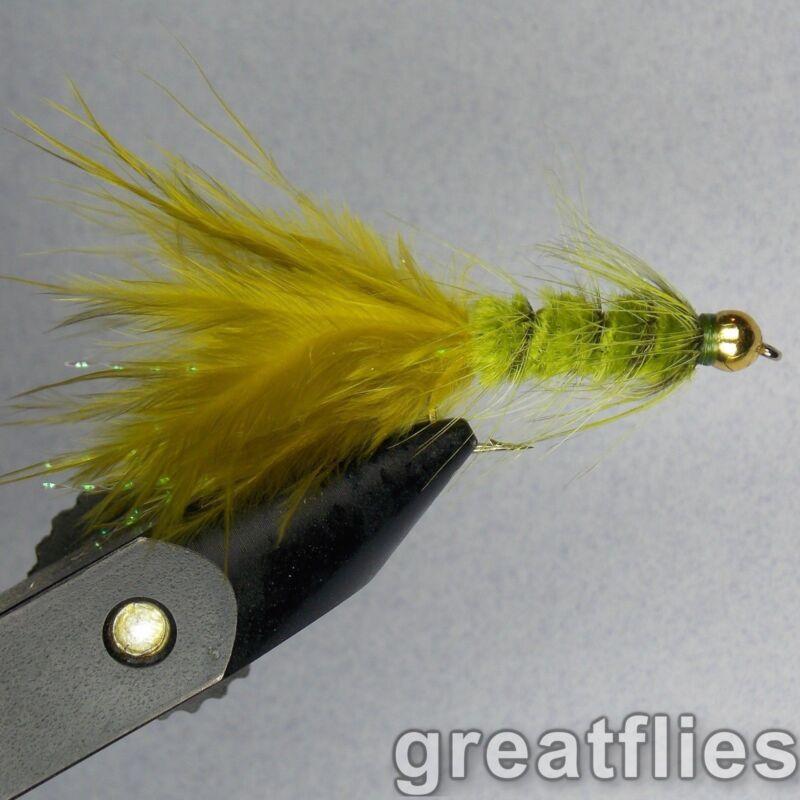 1 dozen (12) - Woolly Bugger - OLIVE - Bead Head