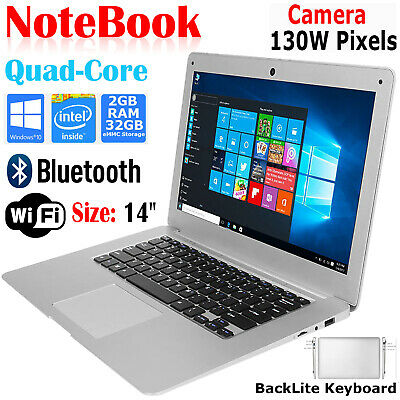 14 inch HD Laptop Notebook Intel Quad Core 1.92Ghz 32GB eMMC 2GB Ram Windows Lot Netbook Notebook Computer