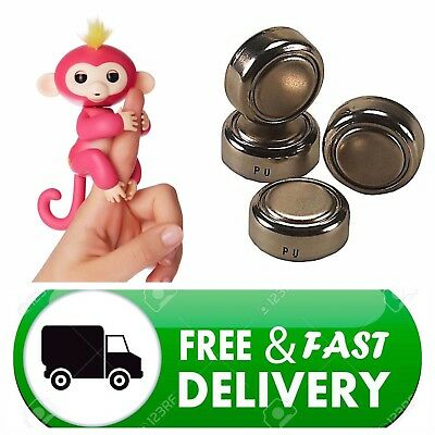 Wowwee Fingerlings Fingerling Monkey Unicorn  X4 Replacement Batteries