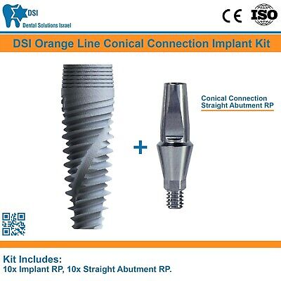 10 Dsi Dental Implant Conical Connection Nobel Active Straight Abutment Rp Iso