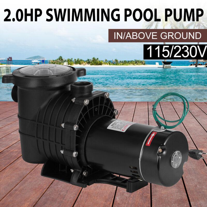2HP Swimming Pool Pump Motor Hayward w/Strainer In/Above Ground 115-230V  Hi-Flo