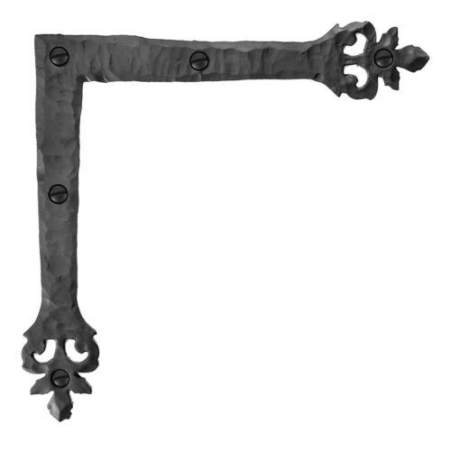"6.5"" Decorative L Corner Bracket, Rustic Spear Right Angle Bracket, Iron Brace"