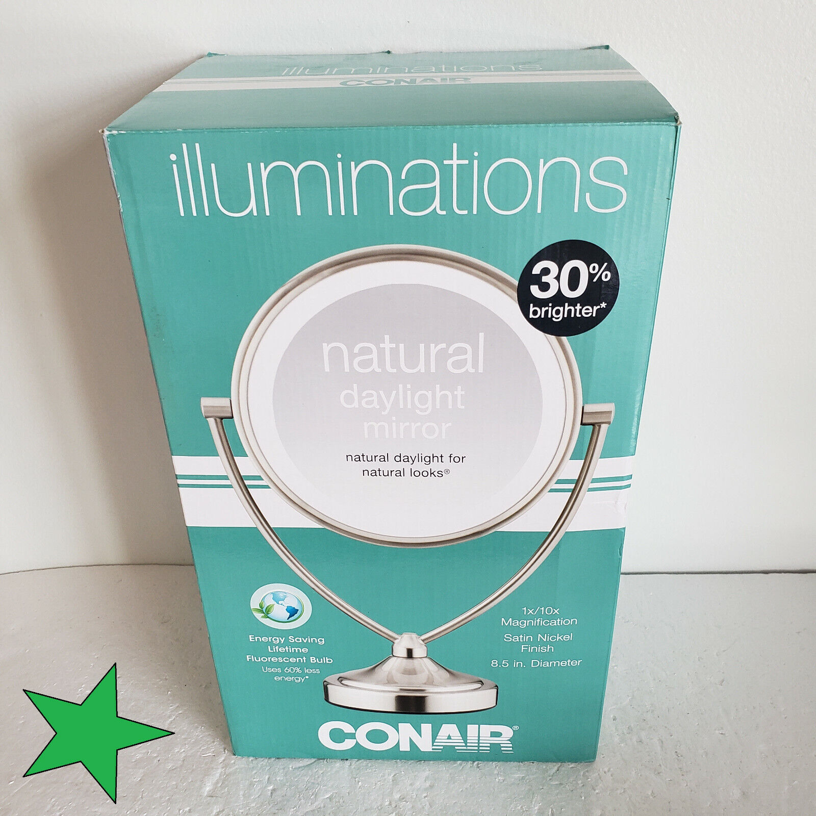 Conair Natural Daylight Double-Sided Lighted Makeup Mirror -