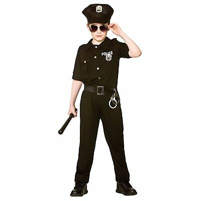 New York Cop Police Uniform Law Crime Boys Kids Childs Fancy Dress Costume
