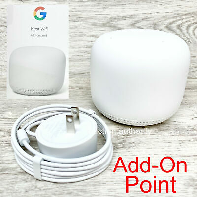 New Google Nest AC1200 WiFi Add On Point Dual Band Mesh System Extender Snow